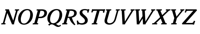 Parkinson MediumItalic Font UPPERCASE