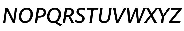 Pelago Medium Italic Font UPPERCASE