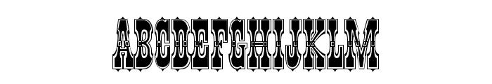 Pepperwood Std Outline Font UPPERCASE