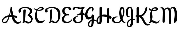 PeregroyJF Regular Font UPPERCASE