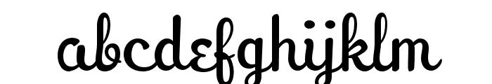 PeregroyJF Regular Font LOWERCASE