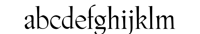 Phaistos Roman Font LOWERCASE