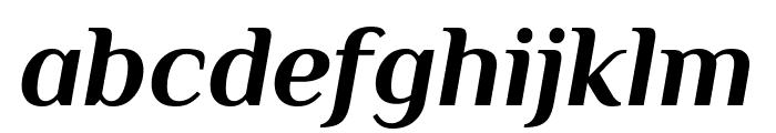 Philosopher Bold Italic Font LOWERCASE