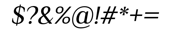 Philosopher Italic Font OTHER CHARS