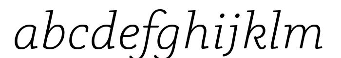 Phoreus Cherokee Light Italic Font LOWERCASE