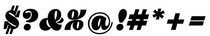 Pika Ultra Script Regular Font OTHER CHARS