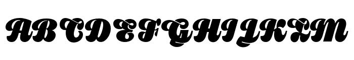 Pika Ultra Script Regular Font UPPERCASE