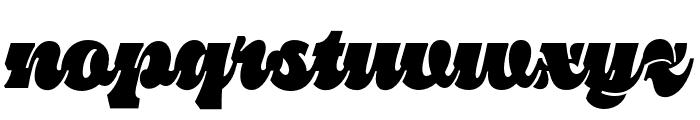 Pika Ultra Script Regular Font LOWERCASE
