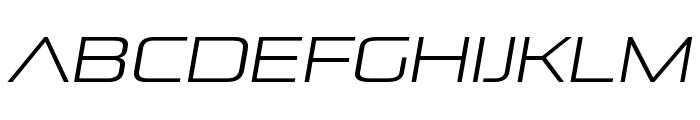 Pirulen Light Italic Font LOWERCASE