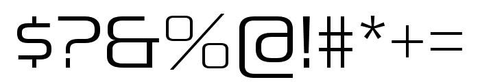Pirulen Light Font OTHER CHARS
