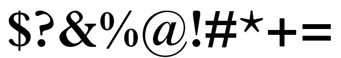 Plantin MT Pro Semibold Font OTHER CHARS