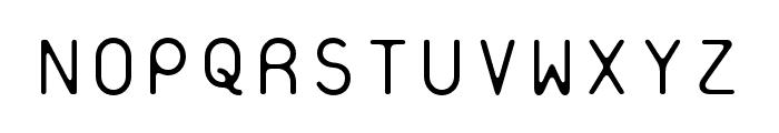 Platelet OT Thin Font UPPERCASE