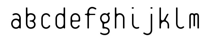 Platelet OT Thin Font LOWERCASE