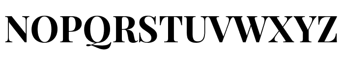 Playfair Display Bold Font UPPERCASE