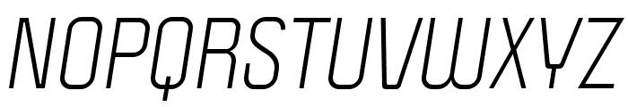 Politica Italic Cd Font UPPERCASE