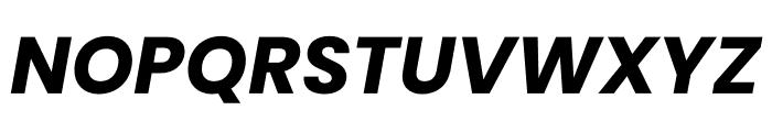 Poppins Bold Italic Font UPPERCASE