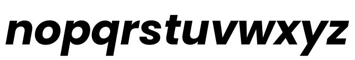Poppins Bold Italic Font LOWERCASE