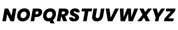 Poppins ExtraBold Italic Font UPPERCASE