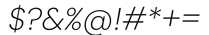 Poppins ExtraLight Italic Font OTHER CHARS