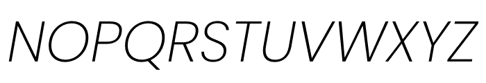 Poppins ExtraLight Italic Font UPPERCASE