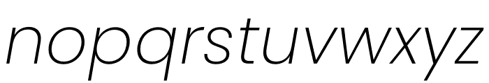 Poppins ExtraLight Italic Font LOWERCASE