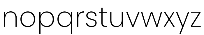 Poppins ExtraLight Font LOWERCASE