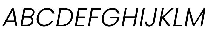 Poppins Light Italic Font UPPERCASE
