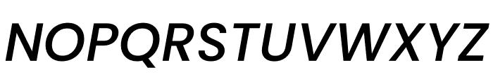 Poppins Medium Italic Font UPPERCASE