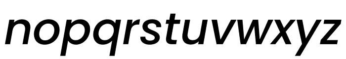 Poppins Medium Italic Font LOWERCASE