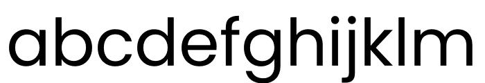 Poppins Regular Font LOWERCASE