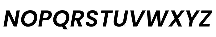 Poppins SemiBold Italic Font UPPERCASE