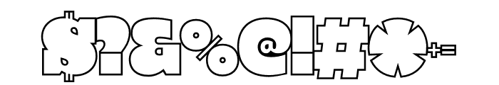 PowerLift Tight Outline Font OTHER CHARS