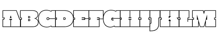 PowerLift Tight Outline Font UPPERCASE