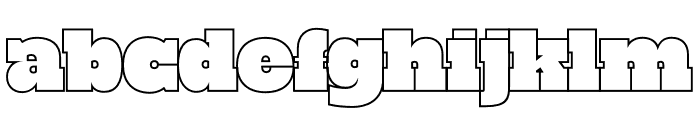 PowerLift Tight Outline Font LOWERCASE