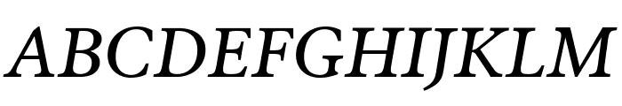 Poynter Oldstyle Text Italic Font UPPERCASE