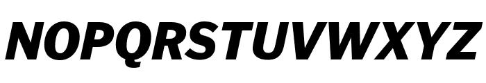 PoynterGothicText Black Italic Font UPPERCASE