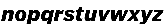 PoynterGothicText Black Italic Font LOWERCASE