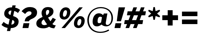 PoynterGothicTextCond Black Italic Font OTHER CHARS
