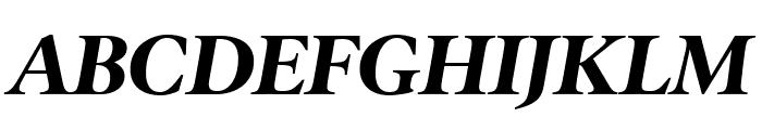 PoynterOSDisp Bold Italic Font UPPERCASE
