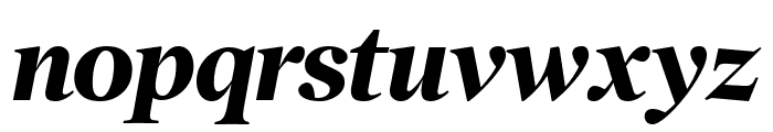 PoynterOSDisp Bold Italic Font LOWERCASE