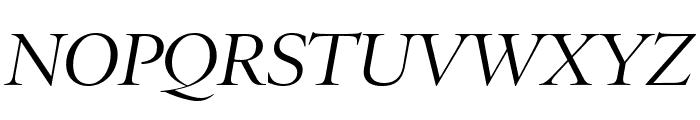 PoynterOSDisp Italic Font UPPERCASE