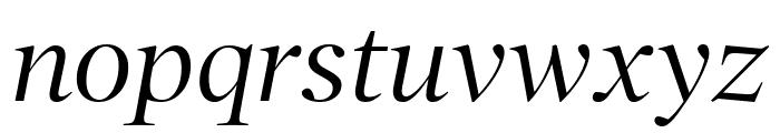 PoynterOSDisp Italic Font LOWERCASE