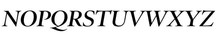 PoynterOSDisp Semibold Italic Font UPPERCASE