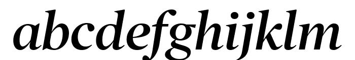 PoynterOSDisp Semibold Italic Font LOWERCASE