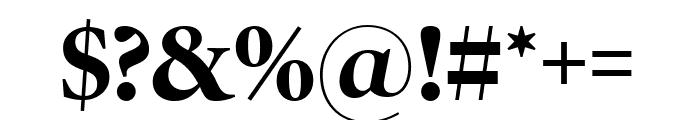 PoynterOSDispNarrow Bold Font OTHER CHARS