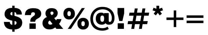 Pragmatica Cond Black Font OTHER CHARS