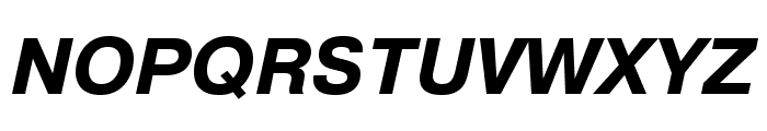 Pragmatica Extended Bold Oblique Font UPPERCASE
