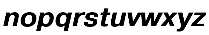 Pragmatica Extended Bold Oblique Font LOWERCASE
