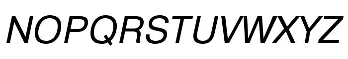 Pragmatica Extended Book Oblique Font UPPERCASE