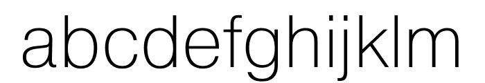Pragmatica Extended Extra Light Font LOWERCASE